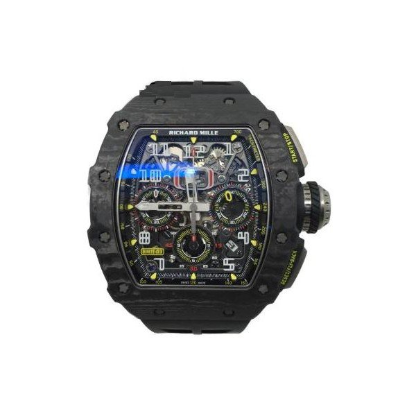 RICHARD MILLE FLYBACK CHRONOGRAPH NTPT CARBON 50 x 42.7 x 13.95 MM MEN'S WATCH