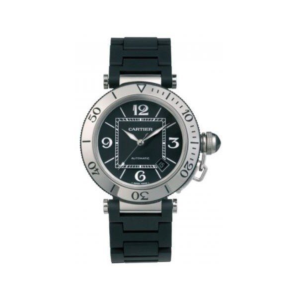 CARTIER PASHA STAINLESS STEEL 40.5MM MEN'S WATCH