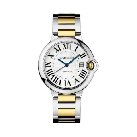 CARTIER BALLON BLEU STAINLESS STEEL & 18KT YELLOW GOLD 36MM UNISEX WATCH