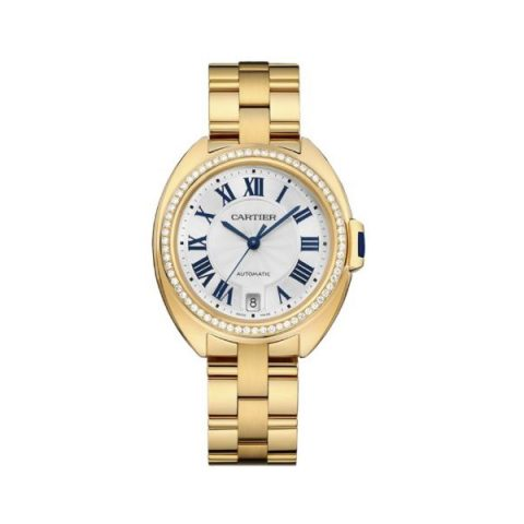 CARTIER CLE DE CARTIER 18KT YELLOW GOLD 35MM LADIES WATCH