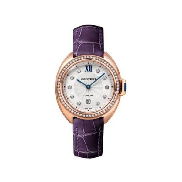 CARTIER CLE DE CARTIER 18KT ROSE GOLD 31MM LADIES WATCH