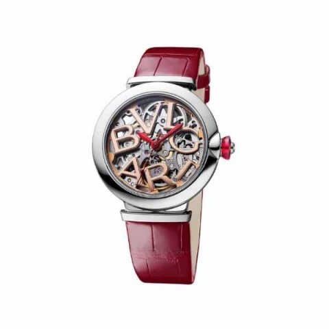 BVLGARI LVCEA SKELETON STAINLESS STEEL 33MM LADIES WATCH REF. 102879