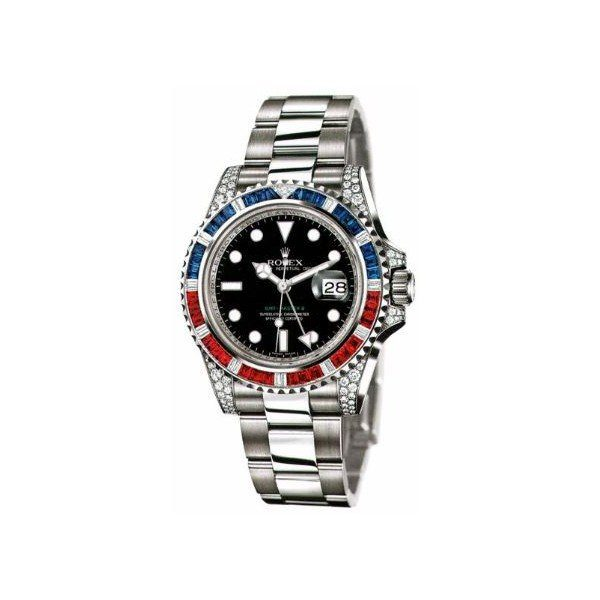 ROLEX OYSTER PERPETUAL GMT MASTER II SAPPHIRE RUBY 40MM MEN'S WATCH