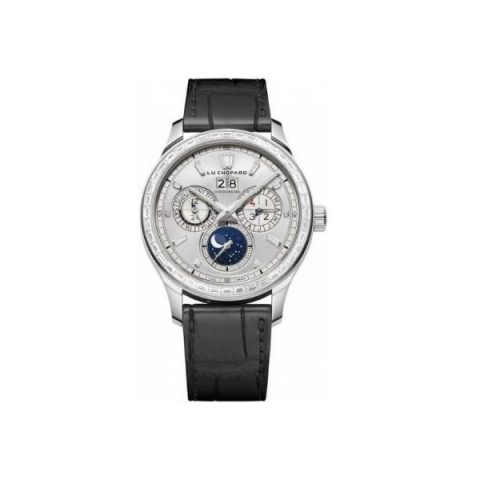CHOPARD L.U.C LUNAR ONE 18KT WHITE GOLD WITH DIAMONDS 43MM LADIES WATCH