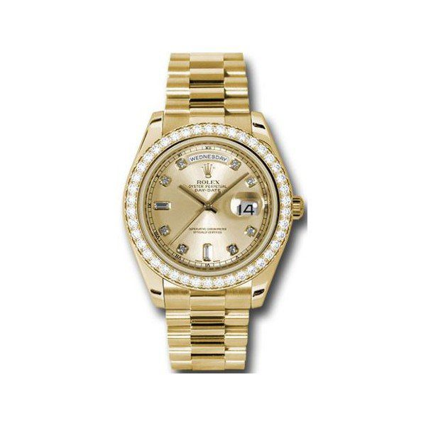 ROLEX OYSTER PERPETUAL DAY DATE II 18KT YELLOW GOLD 41MM MEN'S WATCH