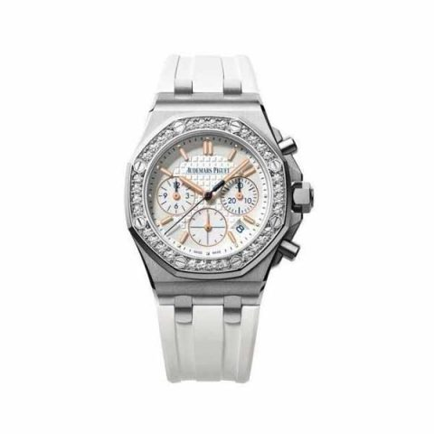 AUDEMARS PIGUET ROYAL OAK OFFSHORE CHRONOGRAPH SUMMER EDITION STAINLESS STEEL 37MM LADIES WATCH