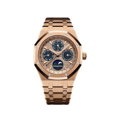 AUDEMARS PIGUET ROYAL OAK PERPETUAL CALENDAR 18KT ROSE GOLD 41MM MEN'S WATCH