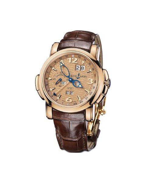 ULYSSE NARDIN GMT PERPETUAL LIMITED EDITION 18KT ROSE GOLD 42MM MEN'S WATCH