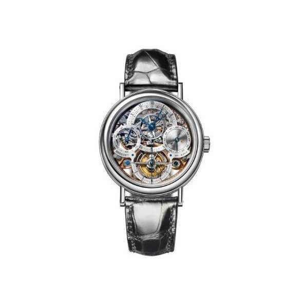 BREGUET TOURBILLON PERPETUAL CALENDAR PLATINUM 40MM MEN'S WATCH