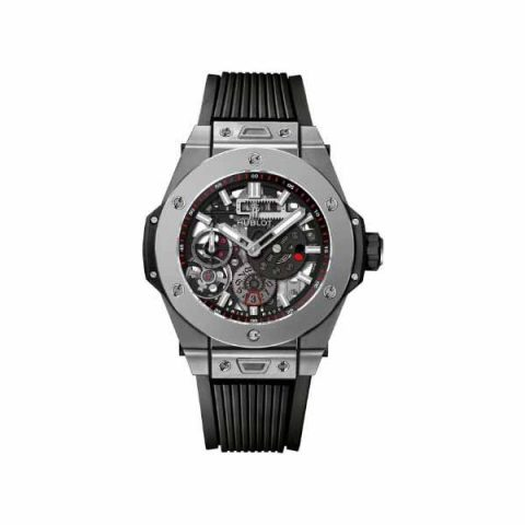 HUBLOT BIG BANG MECA-10 TITANIUM 45MM SKELETON DIAL MEN'S WATCH