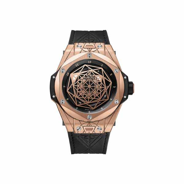 HUBLOT BIG BANG SANG BLEU LIMITED EDITION OF 99 PCS 18KT ROSE GOLD 45MM MEN'S WATCH
