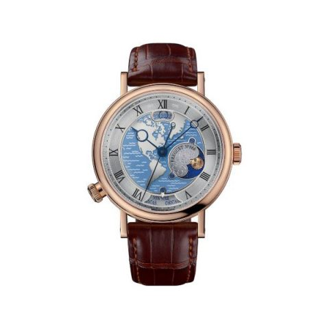 BREGUET CLASSIQUE HORA MUNDI 18KT ROSE GOLD 43MM MEN'S WATCH