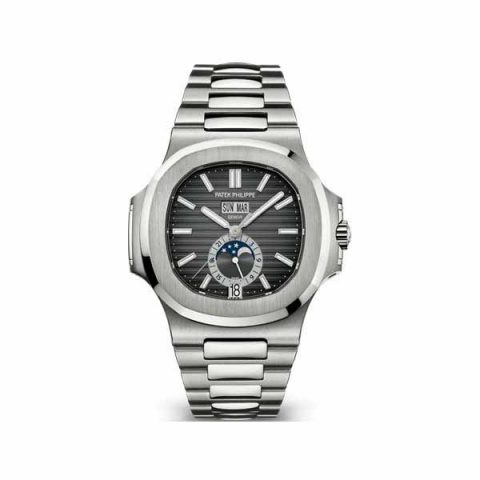 PATEK PHILIPPE NAUTILUS STAINLESS STEEL 40.5MM BLACK DIAL MEN'S WATCH