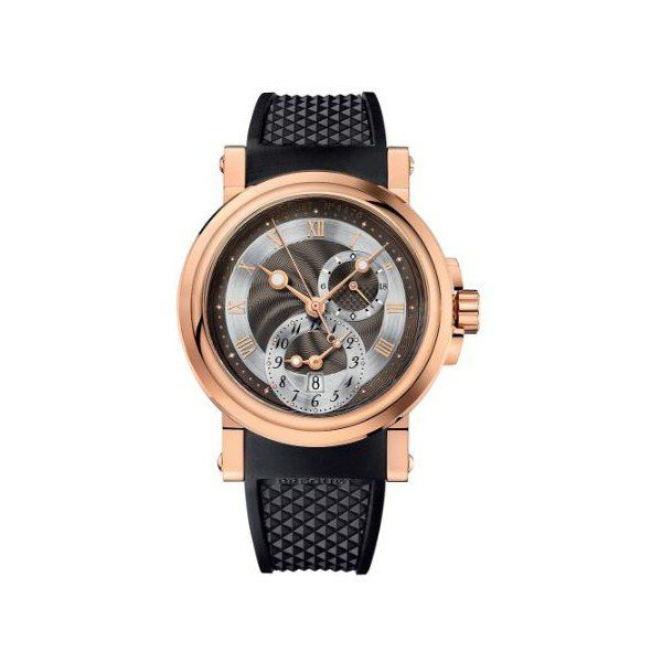 BREGUET MARINE AUTOMATIC DUAL TIME 18KT ROSE GOLD 42MM MEN'S WATCH