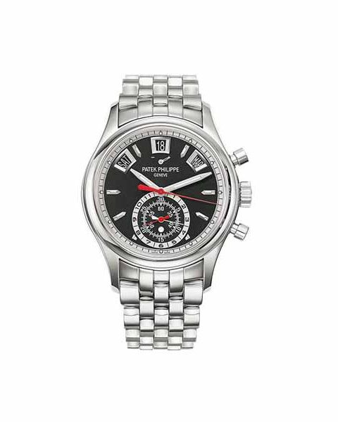 PATEK PHILIPPE COMPLICATIONS ANNUAL CALENDAR CHRONOGRAPH STAINLESS STEEL MEN'S WATCH Ref. 5960/1A-010