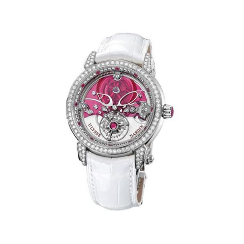 ULYSSE NARDIN ROYAL RUBY TOURBILLON LIMITED EDITION PLATINUM 41MM MEN'S WATCH