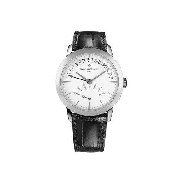 VACHERON CONSTANTIN PATRIMONY CONTEMPORAINE RETROGRADE DAY DATE 18KT WHITE GOLD 42.50MM MEN'S WATCH