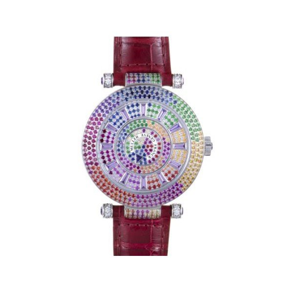 FRANCK MULLER DOUBLE MYSTERY QUATRE SAISONS RAINBOW DIAL LADIES WATCH