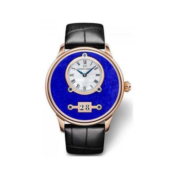 JAQUET DROZ ASTRALE GRANDE DATE LAPIS LAZULI LIMITED EDITION 43MM 18KT ROSE GOLD MEN'S WATCH