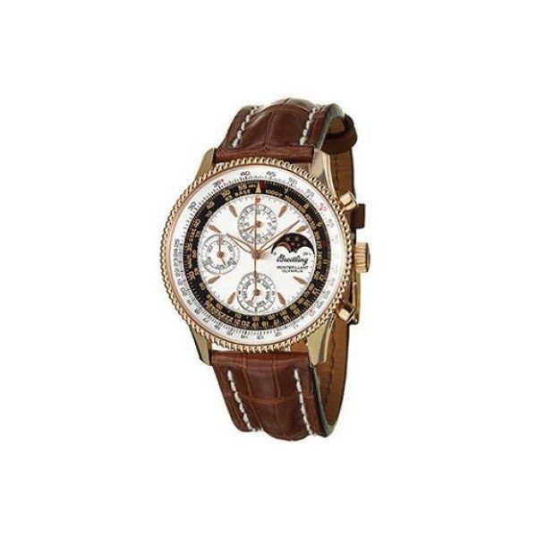 BREITLING MONTBRILLANT OLYMPUS 18KT ROSE GOLD 43MM MEN'S WATCH