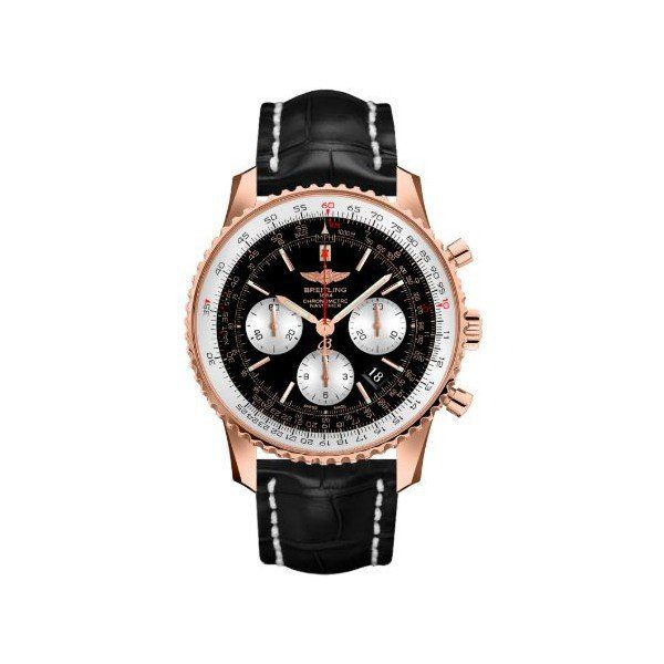 BREITLING NAVITIMER 01 CHRONOGRAPH AUTOMATIC CHRONOMETER 18KT ROSE GOLD 43MM MEN'S WATCH