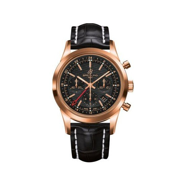 BREITLING TRANSOCEAN CHRONOGRAPH 18KT ROSE GOLD 43MM MEN'S WATCH
