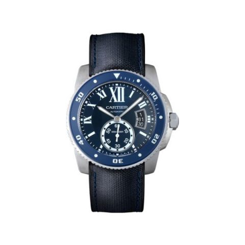 CARTIER CALIBRE DIVER STAINLESS STEEL 42MM MEN'S WATCH