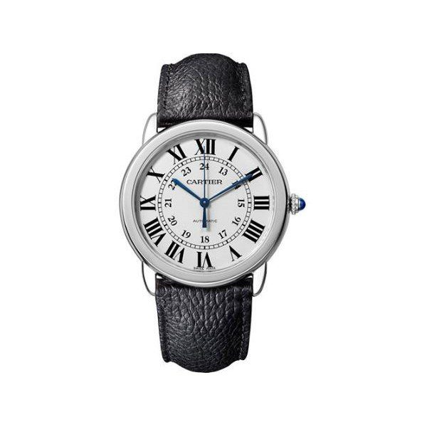 CARTIER RONDO SOLO DE CARTIER STAINLESS STEEL 36MM MEN'S WATCH
