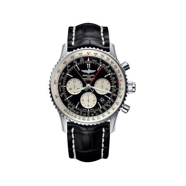 Breitling Pre-owned Navitimer 1 B03 Chronograph Rattrapante Stainless Steel 45mm Men's Watch