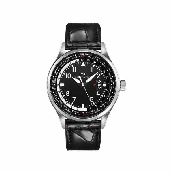 IWC PILOT WORLDTIMER STAINLESS STEEL 45MM MEN'S WATCH