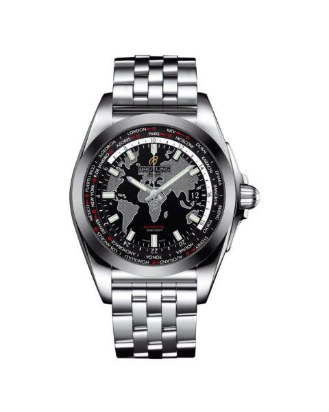 BREITLING GALACTIC UNITIME STAINLESS STEEL 44MM MEN'S WATCH