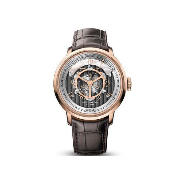 ARNOLD & SON GOLDEN WHEEL 18KT ROSE GOLD 44MM MEN'S WATCH