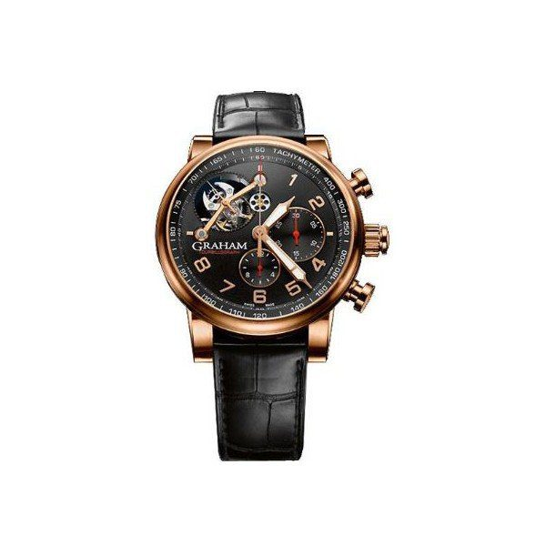 GRAHAM TOURBILLOGRAPH SILVERSTONE LIMITED EDITION OF 25 PCS 18KT ROSE GOLD 48MM MEN'S WATCH