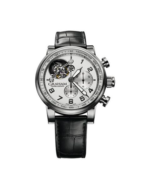 GRAHAM TOURBILLOGRAPH SILVERSTONE LIMITED EDITION TO 25PCS STAINLESS STEEL 48MM MEN'S WATCH