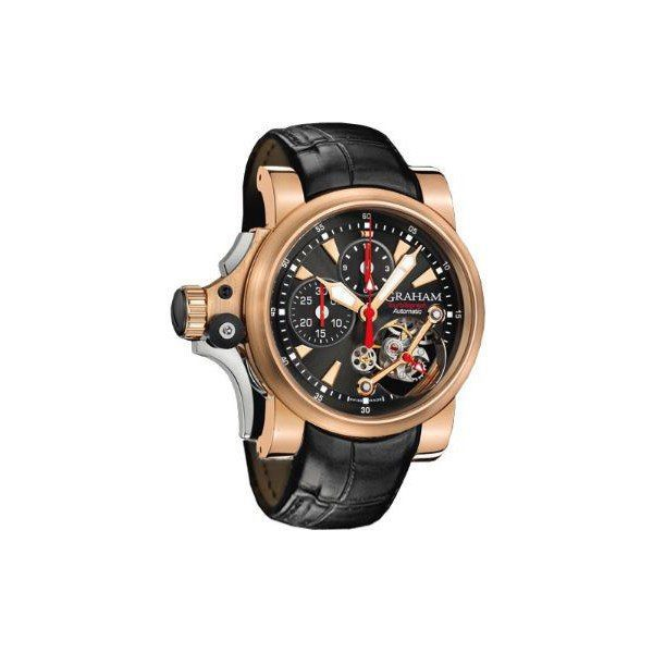 GRAHAM TOURBILLOGRAPH 18KT ROSE GOLD 46MM MEN'S WATCH