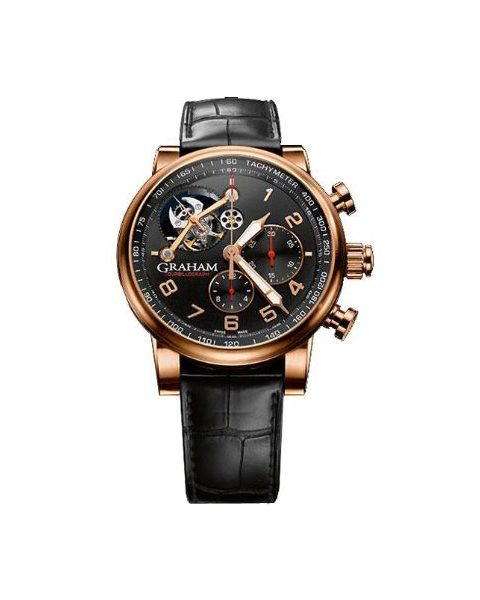 GRAHAM TOURBILLOGRAPH SILVERSTONE WOODCOTE LIMITED EDITION 18KT ROSE GOLD MEN'S WATCH