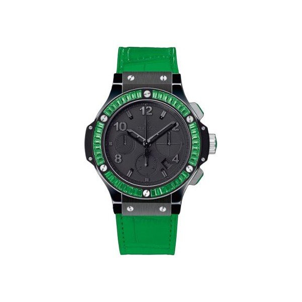 HUBLOT BIG BANG BLACK TUTTI FRUTTI CERAMIC 41MM LADIES WATCH