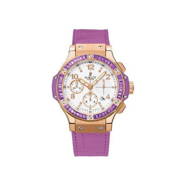 HUBLOT BIG BANG TUTTI FRUTTI PURPLE 18KT ROSE GODL 41MM LADIES WATCH