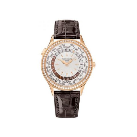 PATEK PHILIPPE COMPLICATIONS WORLD TIME 18KT ROSE GOLD 36MM LADIES WATCH