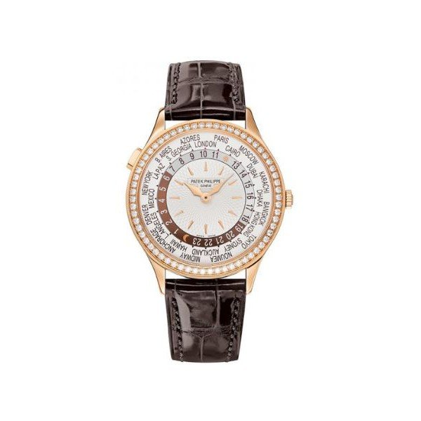 Patek Philippe Pre-Owned Complications World Time Rose Gold Ladies Watch