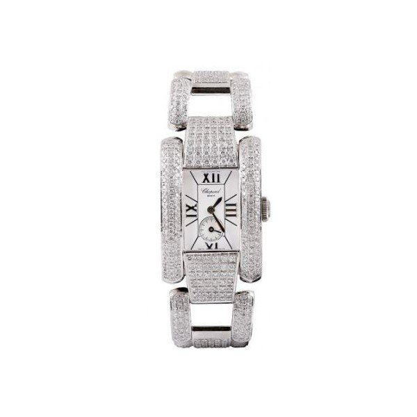 CHOPARD LA STRADA DIAMONDS & STEEL 24MM LADIES WATCH