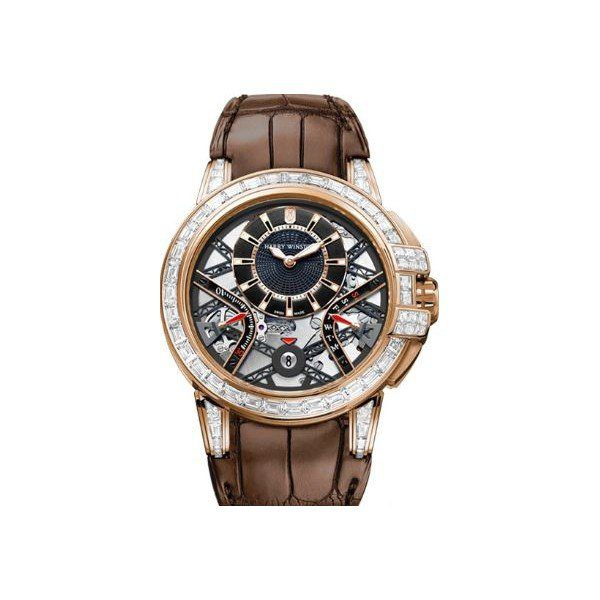 HARRY WINSTON OCEAN BIRETROGADE LIMITED EDITION 18KT ROSE GOLD WITH DIAMONDS 42MM MEN'S WATCH