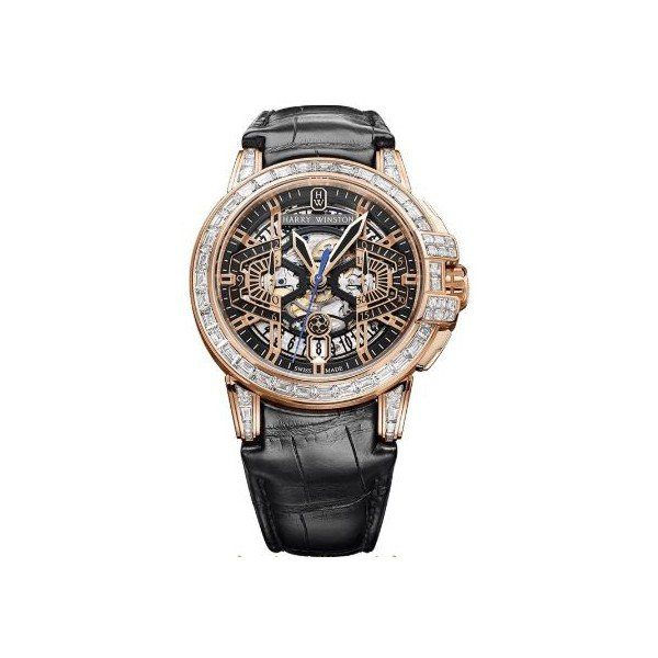 HARRY WINSTON OCEAN CHRONOGRAPH LIMITED EDITION 18KT ROSE GOLD 44MM MEN'S WATCH