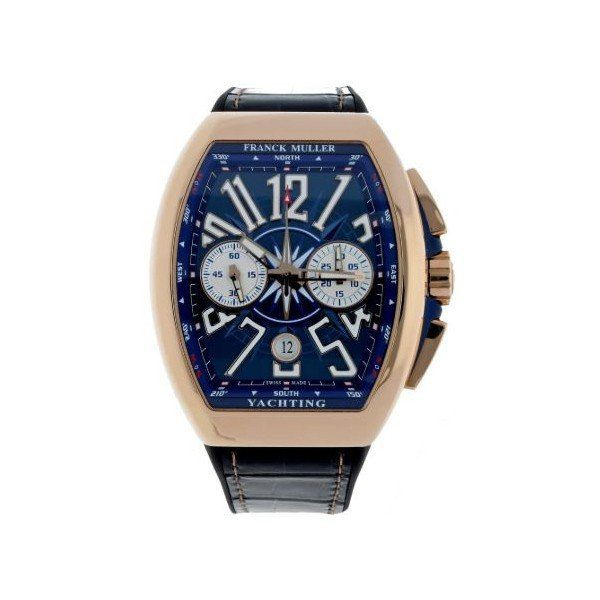 FRANCK MULLER VANGUARD YACHTING 18KT ROSE GOLD CHRONOGRAPH 44MM MEN'S WATCH