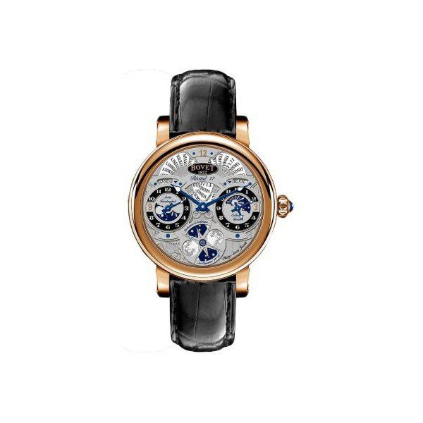BOVET DIMIER RECITAL 17 MOON PHASE LIMITED EDITION 100 PCS 18KT ROSE GOLD 46MM MEN'S WATCH