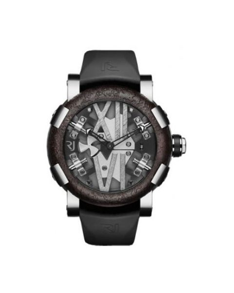 ROMAIN JEROME TITANIC DNA STEAMPUNK METAL STEEL AND BLACK PVD COATED STEEL 50MM MEN'S WATCH