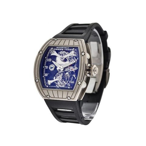 RICHARD MILLE TOURBILLON PERINI NAVI CUP 18KT WHITE GOLD MEN'S WATCH