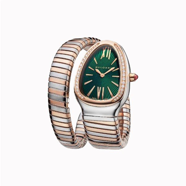 BVLGARI SERPENTI TUBOGAS 18KT ROSE GOLD WITH DIAMONDS 35MM LADIES WATCH