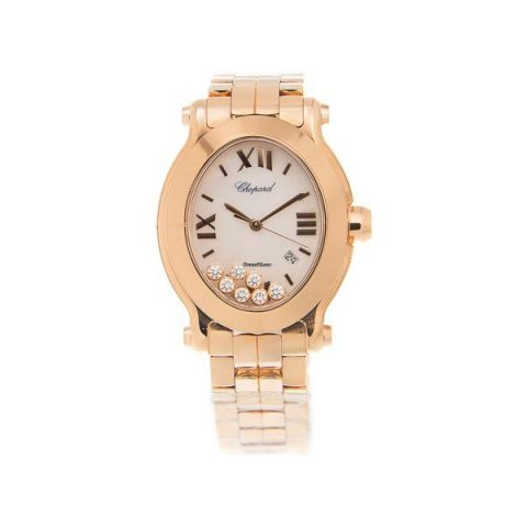 CHOPARD HAPPY SPORT 18KT ROSE GOLD 30 X 33.5MM LADIES WATCH