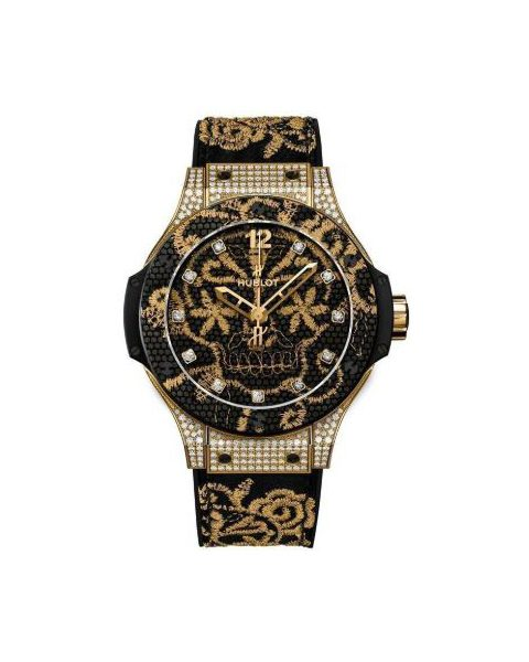HUBLOT BIG BANG BRODERIE LIMITED EDITION OF 200 PIECES 18KT YELLOW GOLD 41MM LADIES WATCH